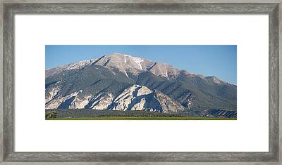Chalk Cliffs Of Mt. Princeton Framed Print by Aaron Spong