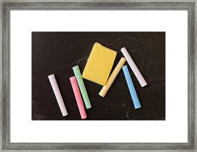 Chalk Pieces Framed Print by Tom Gowanlock