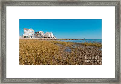Chalker Beach Cottages Old Saybrook Connecticut Framed Print by Edward Fielding
