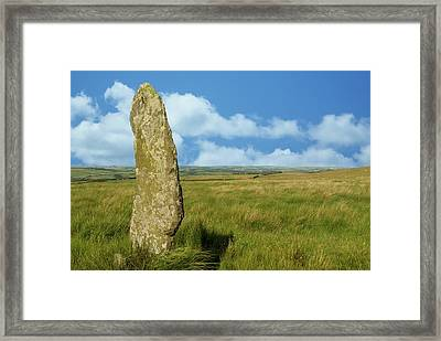 Challacombe Longstone Framed Print by David Aubrey