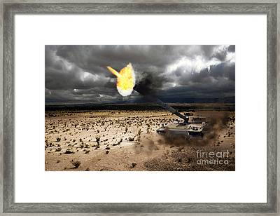 Challenger 1 Framed Print by J Biggadike