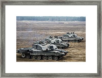 Challenger 2 Main Battle Tanks Framed Print