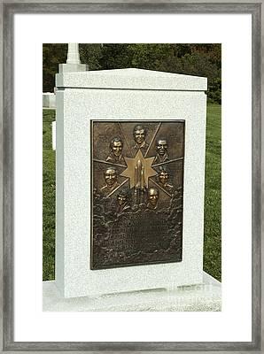 Challenger Monument Framed Print