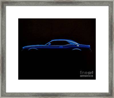 Challenger Silhouette Framed Print