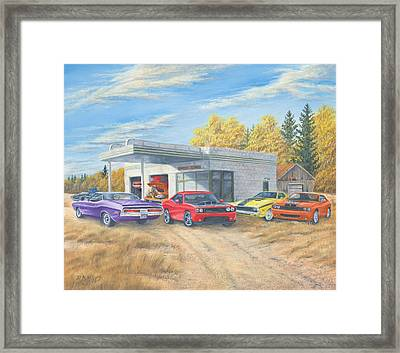Challengers Old And New Framed Print by Dan Reid