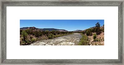Chama River A Major Tributary River Framed Print