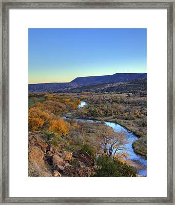 Chama River At Sunset Framed Print