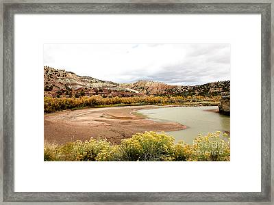 Framed Print featuring the photograph Chama River Swim Spot by Roselynne Broussard
