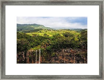 Chamarel Waterfall. Mauritius Framed Print by Jenny Rainbow