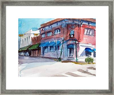 Chamber Of Commerce Mineola Tx Framed Print by Ron Stephens
