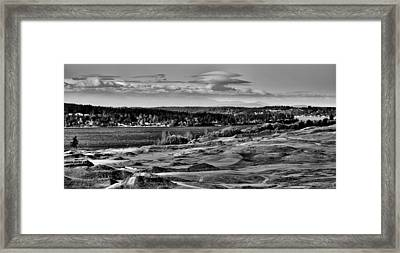 Chambers Bay Golf Course - Site Of The 2015 U.s. Open Golf Tournament Framed Print by David Patterson