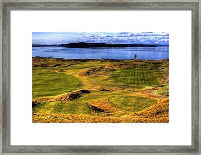 Chambers Bay Lone Tree Framed Print