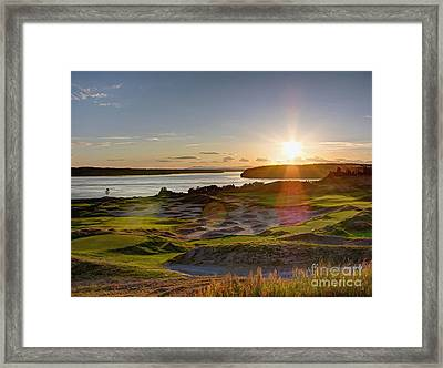 Chambers Bay Sun Flare - 2015 U.s. Open  Framed Print by Chris Anderson