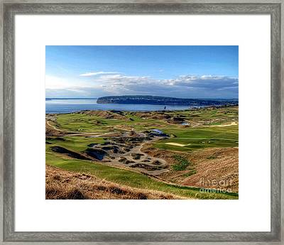 Chambers Bay View 2013 Cropped Framed Print by Chris Anderson