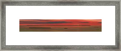 Chambers Island Sunset Framed Print