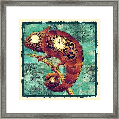 Chameleon - Aff01a Framed Print by Variance Collections