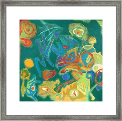 Chameleon Framed Print by Diane Fine