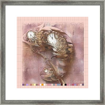 Chameleon - J039070015 -pink01a Framed Print by Variance Collections