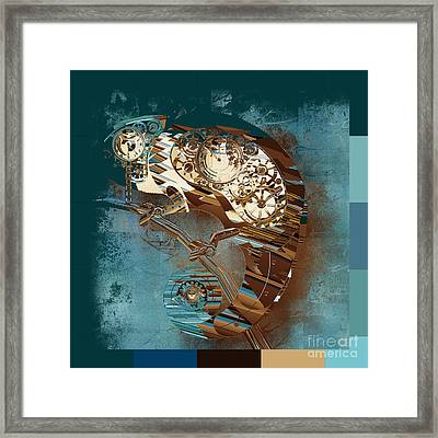 Chameleon  - J067070615 - Tq01 Framed Print by Variance Collections