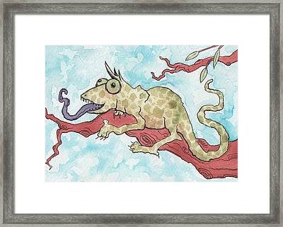 Chameleon Framed Print by Melissa Rohr Gindling