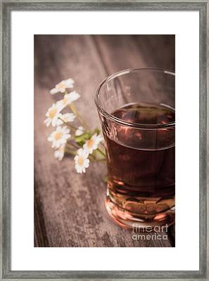 Chamomile Tea Retro Framed Print