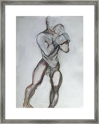 Champ Framed Print by Carolyn Weltman