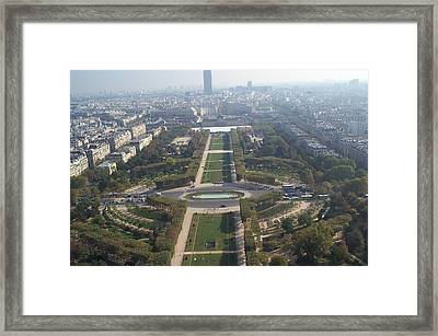 Framed Print featuring the photograph Champ De Mars by Barbara McDevitt