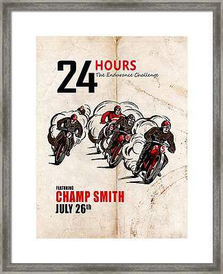 Champ - Custom Poster Example Framed Print by Mark Rogan