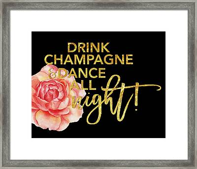 Champagne Framed Print by Amy Cummings