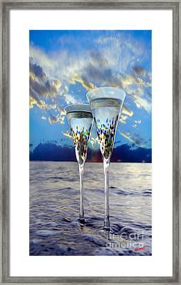 Champagne At Sunset Framed Print by Jon Neidert