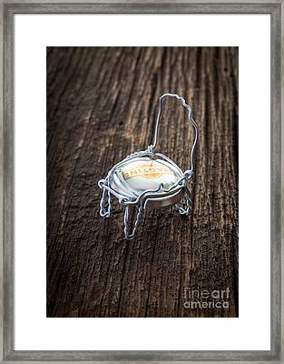 Champagne Chair Framed Print
