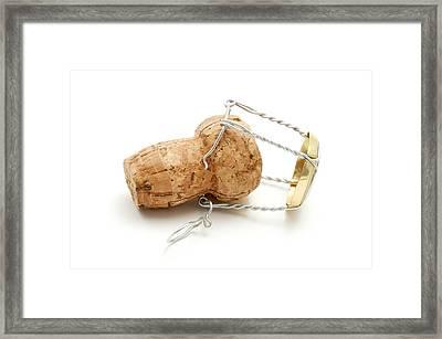 Champagne Cork Stopper Framed Print by Fabrizio Troiani
