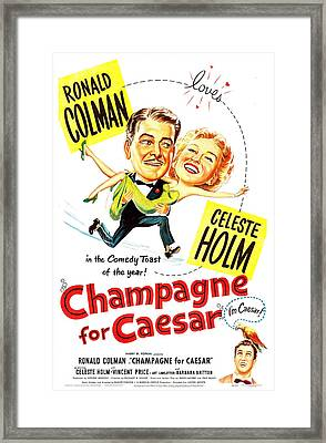 Champagne For Caesar, Us Poster, Top Framed Print