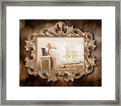 Champagne Frame Framed Print