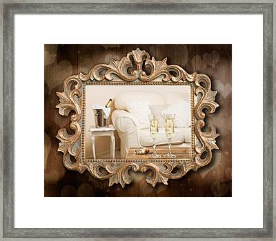 Champagne Frame Framed Print by Amanda Elwell