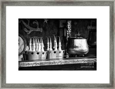 Champagne In Paris Framed Print by John Rizzuto