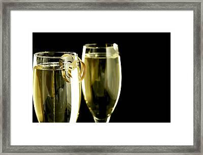 Champagne Framed Print by Karin Hildebrand Lau