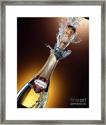 Champagne Framed Print by Mel Lindstrom