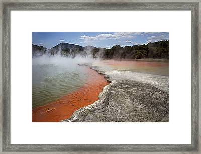 Framed Print featuring the photograph Champagne Pool - Natures Thermal Wonderland by Kim Andelkovic