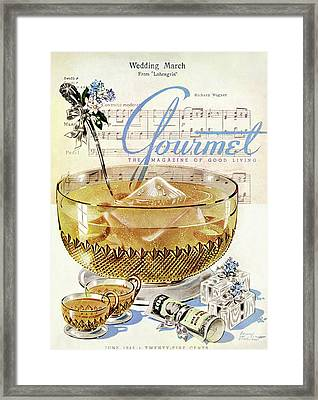 Champagne Punch And The Wedding March Framed Print