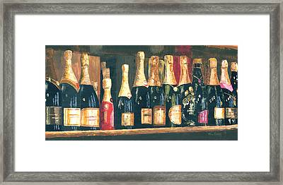 Champagne Row Framed Print by Will Enns