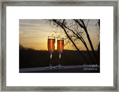 Champagne Sunset Framed Print by Kay Pickens
