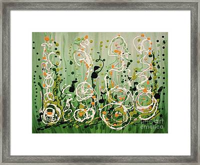Framed Print featuring the painting Champagne Symphony by Holly Carmichael
