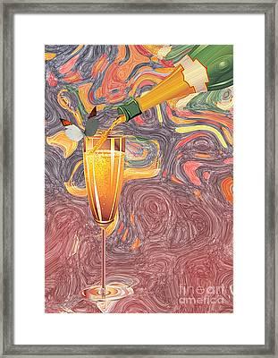 Champagne Van Gogh  Framed Print