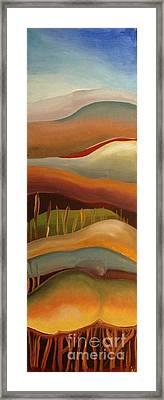 Champignons Landscape 3 In Work Framed Print