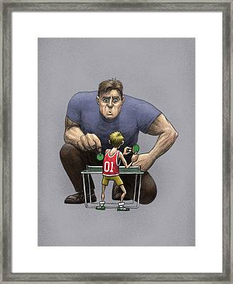 Framed Print featuring the drawing Unlikely Champion by Ben Hartnett