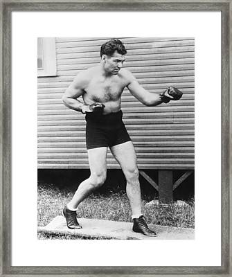 Champion Boxer Jack Dempsey Framed Print by Underwood Archives