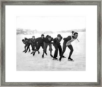 Champion Skater In Training Framed Print