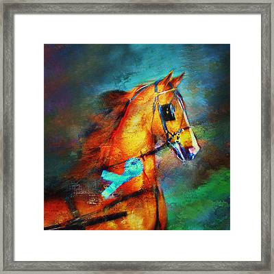 Champion's Headshot Framed Print by Judy Robichaux