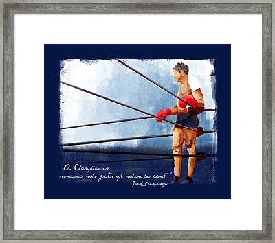 Champions Framed Print by Jessica Woolrich
